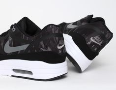 #Nike Air Max 1 Tape Camo Black