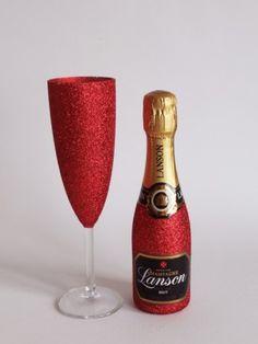 Glitter Lanson Champagne & Glass