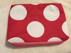 Elizabeth Arden cosmetic bag- red/pink polka dot