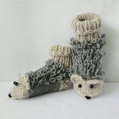 5844cf69163 Toddler Knee Socks Hedgehog socks Animal Socks by mymomsshop1 Wool Socks