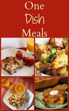 One Dish Meals! Here are 23 One Dish Meals that you can make quickly and easily!