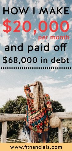 How This Blogger Makes $20,000/Month And Paid Off $68k In Debt #makemoneyblogging #blogging #debt #smallbiz Make Money Blogging, Make Money From Home, Way To Make Money, Make Money Online, Saving Money, How To Make, Paying Off Credit Cards, Student Loan Debt, Get Out Of Debt