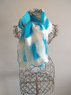 Handmade Scarves, Handmade Gifts, Felted Scarf, Unique Gifts For Her, Christmas Gifts For Women, Nuno Felting, Womens Scarves, Wearable Art, Hippie Boho