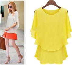 Big Size Flow Chiffon Blouse - women's white shirts and blouses, womens green shirt blouse, sleeveless long blouse *sponsored https://www.pinterest.com/blouses_blouse/ https://www.pinterest.com/explore/blouses/ https://www.pinterest.com/blouses_blouse/saree-blouse/ http://us.asos.com/women/tops/shirts-blouses/cat/?cid=11318