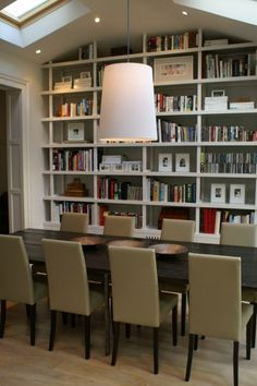 Bookshelves and shade