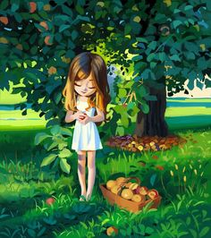 Cartoon Girl Images, Cute Cartoon Girl, Cartoon Girl Drawing, Cartoon Art, Cute Bear Drawings, Art Painting Gallery, Digital Art Girl, Cute Cartoon Wallpapers, Anime Scenery