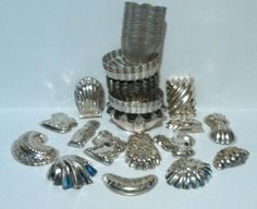 Lot of 42 pc Vintage Aluminum Jello Swirl Baking Mini Bundt Cake Pan Tin Germany More amazing finds: http://www.ebay.com/usr/medusamaire http://www.ebay.com/usr/maire1968