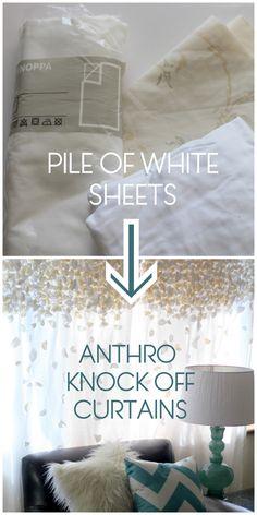DIY Flutter curtains #anthro  Gorgeous!