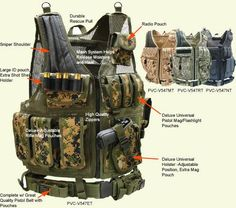 A UTG/Condor tactical vest. There are tons of versions of this vest on the market, in just about EVERY camo patern out there If you play airsoft seriously, sooner or later you will buy a vest. This is a major purchase, because a vest is a big part. Zombie Survival Guide, Camping Survival, Outdoor Survival, Survival Prepping, Zombies Survival, Survival Stuff, Disaster Preparedness, Survival Tools, Apocalypse Gear
