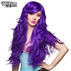 "RockStar Wigs®  Hologram 32"" - Purple Grape-00616"