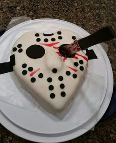 My Friday the 13th Valentine's Day cake!