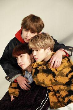 Taehyung V, J Hope & Jimin