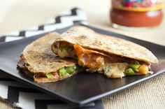 Recipe: Ultimate Pizza Quesadilla (or try a veggie one w/black olives, red onion, & green bell peppers)