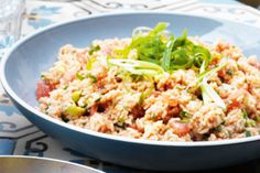 With herbs and zingy dressing, this side is great spooned onto plates or wrapped with barbecue meat.