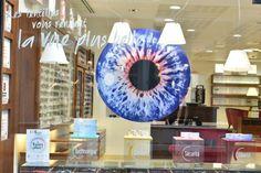 Vitrine Opticiens Maurice Frères - avril 2014 -Les lentilles vous rendent la vue plus belle-