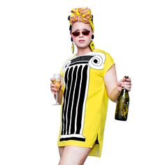 FRIDA LAS VEGAS 'Greek Column' Pop Art Glamour Sack Dress Oversized T Shirt Australian Fashion Graphic Bold Avant Garde 80s 1980s Style Australiana Pop Art Fashion, Fashion Graphic, 1980s Style, Australian Fashion, Maternity Wear, Las Vegas, Your Style, Greek, Glamour