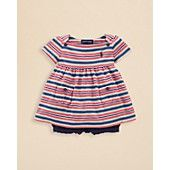 Ralph+Lauren+Childrenswear+Infant+Girls'+Striped+Boatneck+Top+&+Seersucker+Short+Set+-+Sizes+9-24+Months