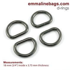 4 or 5 Pack 3 32mm x 3mm thick 2 BRASS OR NICKLE PLATED D-RINGS Single