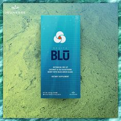 RevitaBlū™ is a botanical blend of blue-green algae, sea buckthorn berry and aloe vera with coconut water powder. Stem Cell Research, Green Algae, Cosmetic Shop, Stem Cells, Refreshing Drinks, I Fall, How To Fall Asleep, The Cure
