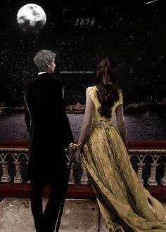 """""""—Tessa...—Comenzó Jem. —No Iba a deciros adiós explico rápidamente—, pero (..)—Mizpah—dijo él Ella lo miró sin entender, algo aturdida. —Es una especie de despedida sin decir adiós—explico él—.Es una referencia a un pasaje de la biblia: «Y Mizpah, porque él dijo""""El señor vigila entre tú y yo cuando estamos ausentes el uno del otro»"""" Tessa no tuvo oportunidad de responder nada, porque Jem corrió escalera abajo para reunirse con Will, que estaba inmóvil como una estatua."""" Tessa y Jem"""