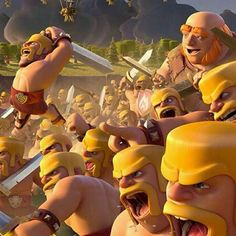 When barbarians attack in clash of clans