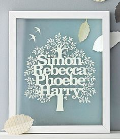 Personalised Family Tree from Notonthehighstreet