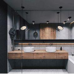 Home Inspiration // Beton Design Interior ideas The Perfect Scandinavian Style Home Double Sink Bathroom, Bathroom Sink Vanity, Modern Bathroom, Double Sinks, Bathroom Images, Bedroom Modern, Interior Minimalista, Bad Inspiration, Bathroom Inspiration