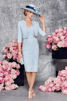 Sheath/Column Asymmetrical Knee-length Satin Mother of the Bride Dress
