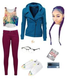 """""""Untitled #1269"""" by empresslal on Polyvore featuring Doublju, Great Plains, Kevin Jewelers, Ray-Ban, Chicnova Fashion, adidas, Macmillan, women's clothing, women and female"""