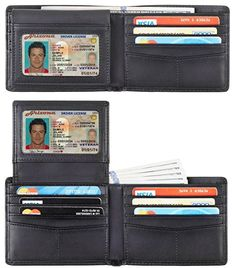 360c9ab2ee6 online shopping for Travelambo Genuine Leather RFID Blocking Wallets Mens  Wallet Bifold Classic from top store. See new offer for Travelambo Genuine  Leather ...