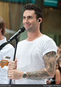 Adam Levine--Maroon Five- What's not to love? Best ear on The Voice. Respect his opinion immensely. He is lovely to look at and he has great chops!