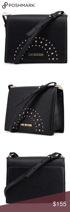 Love Moschino black crossbody bag Love Moschino crossbody bag Made of  synthetic leather 206a46f8de54a