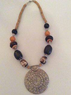 1 Halskette aus Indien Schmuck Kette Hippie Goa Bollywood Neu Hippieschmuck Nr.9