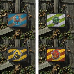 Harry Potter inspired House Crest stripe Large Messenger Bag Bookbag, Field Bag, Crossbody, (Ravenclaw, Slytherin, Hufflepuff, Gryffindor)