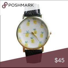 COMING SOON Pineapple watch COMING SOON!! Stainless steel plated metal alloy, vegan leather WILA Accessories Watches