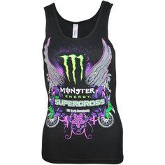 54b1ad22 Monster Energy Supercross Ladies Mirror Tank Monster Energy Gear, Monster  Energy Supercross, Monster Energy