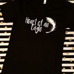 """""""Heart of an Eagle"""" tee! Perfect for schools, athletes, and teachers with Eagle mascots!"""