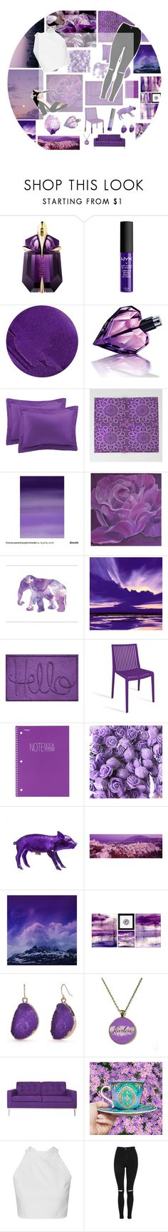 """""""Purple Daze ♡"""" by l-eliza ❤ liked on Polyvore featuring Thierry Mugler, NYX, Lipstick Queen, Diesel, Home Decorators Collection, Mead, Areaware, Leah Flores, PTM Images and New Directions"""
