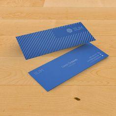 Carte de visite slim papier offset bleu #cartedevisite #businesscard #original
