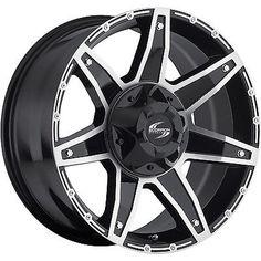17x9 Black Scorpion SC6 6x135 & 6x5.5 20 Rims Open Country MT 35 Tires