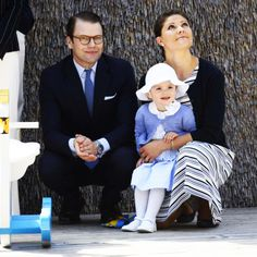 royalwatcher:  Prince Daniel, Princess Estelle and Crown Princess Victoria in Ostergotland, May 17, 2014