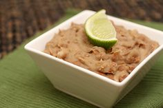 Simple Refried Beans:)
