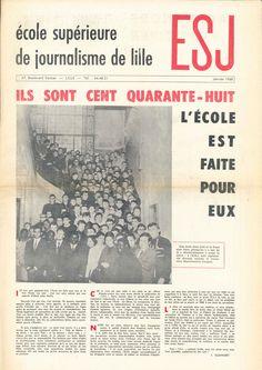 Premier numéro du journal ESJ, en janvier 1968.
