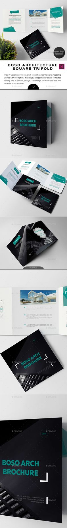 Boso Architecture Trifold Brochure  Architecture Minimal And