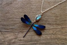 Dragonfly necklace Dragonfly jewelry with sterling by LittleAmber, $67.00