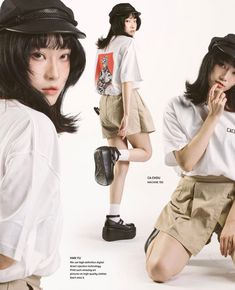 Image Fashion, Look Fashion, 90s Fashion, Fashion Outfits, Human Poses Reference, Pose Reference Photo, Looks Style, Looks Cool, Japonese Girl