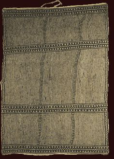 Bogolanfini wrapper, N'gale   Cotton broadcloth, earth pigments, plant dyes   Nakunte Diarra and Binde Diarra   Bamana: Kolokani, Beledougou region, Mali