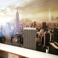 New York Wallpaper Mural Installation By Cuttingedgewallpaperingau Melbourne Hangers