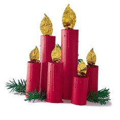 Materials  Paper towel and tissue tubes  Glue  Acrylic paints  Gold foil wrapping paper