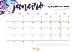 Planner mensal do Geraldas